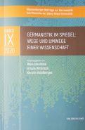germanistik im spiegel cover